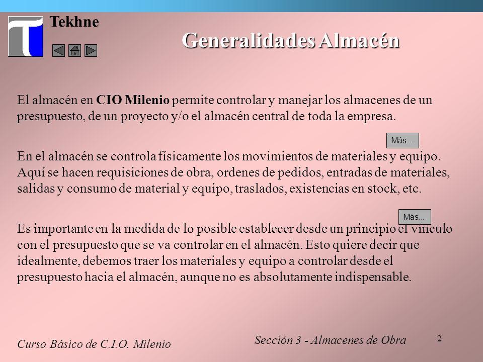 Generalidades Almacén
