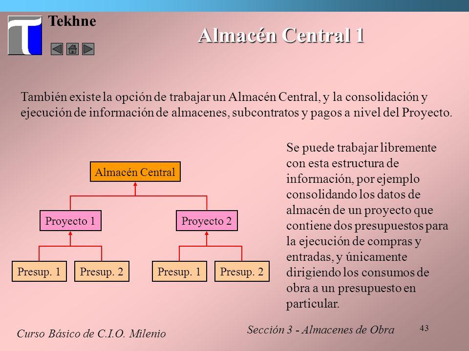 Almacén Central 1 Tekhne