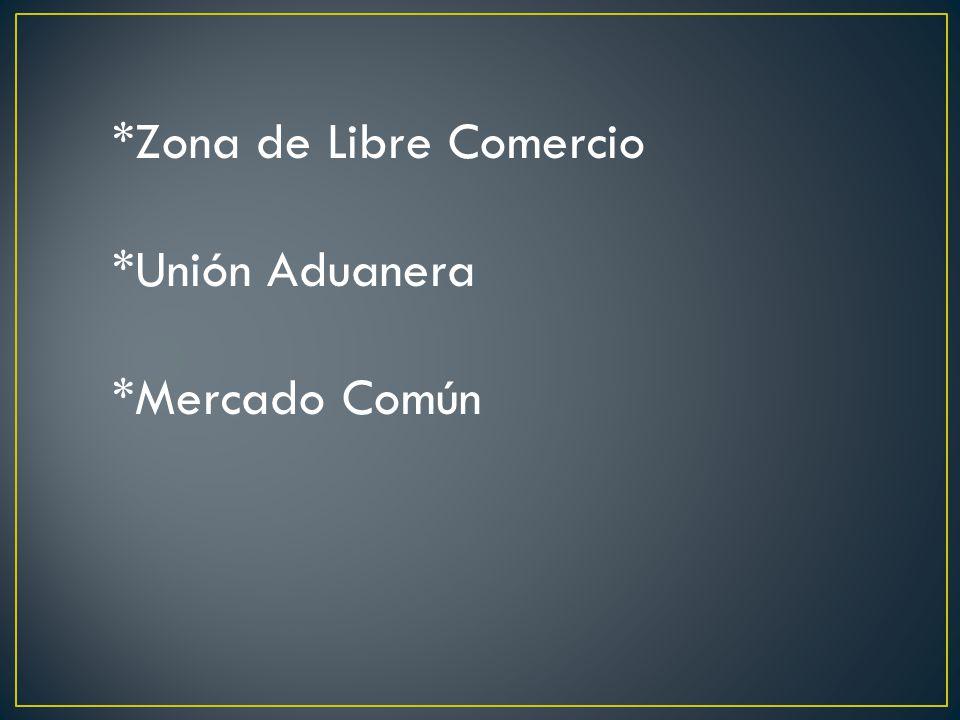 *Zona de Libre Comercio