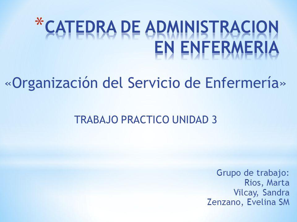 CATEDRA DE ADMINISTRACION EN ENFERMERIA