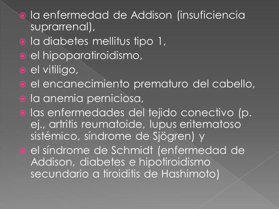 la enfermedad de Addison (insuficiencia suprarrenal),