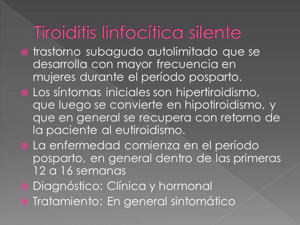 Tiroiditis linfocítica silente