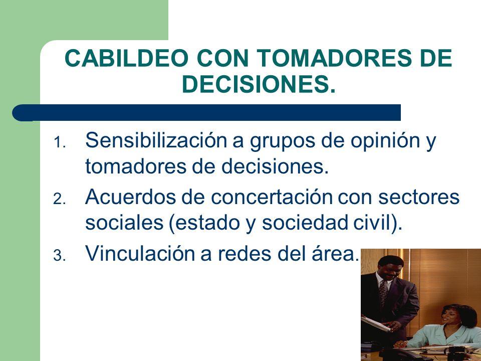 CABILDEO CON TOMADORES DE DECISIONES.