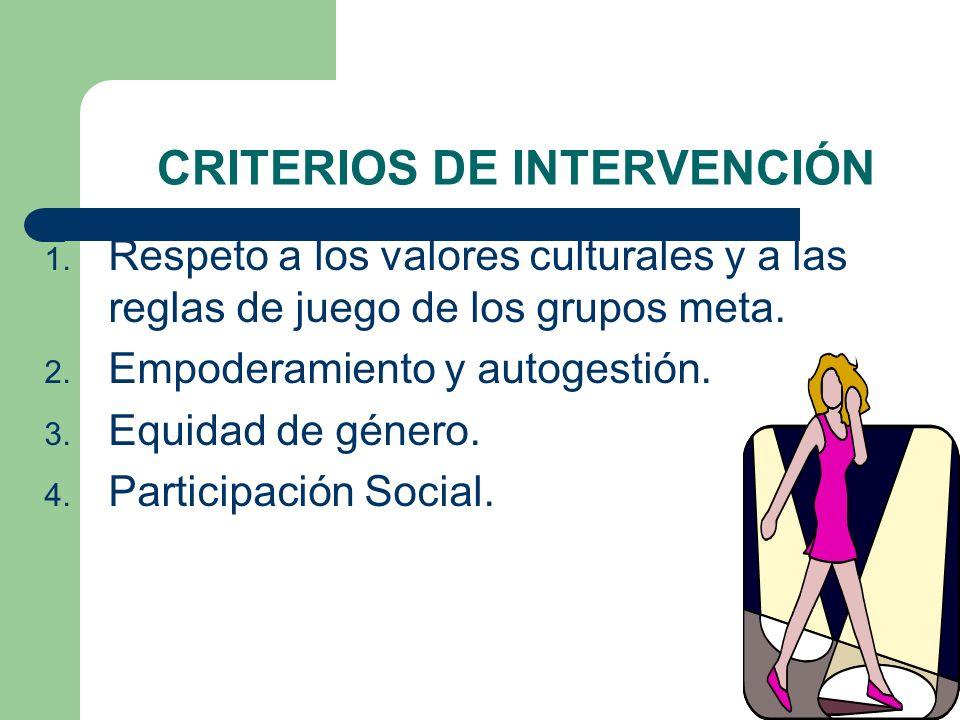 CRITERIOS DE INTERVENCIÓN