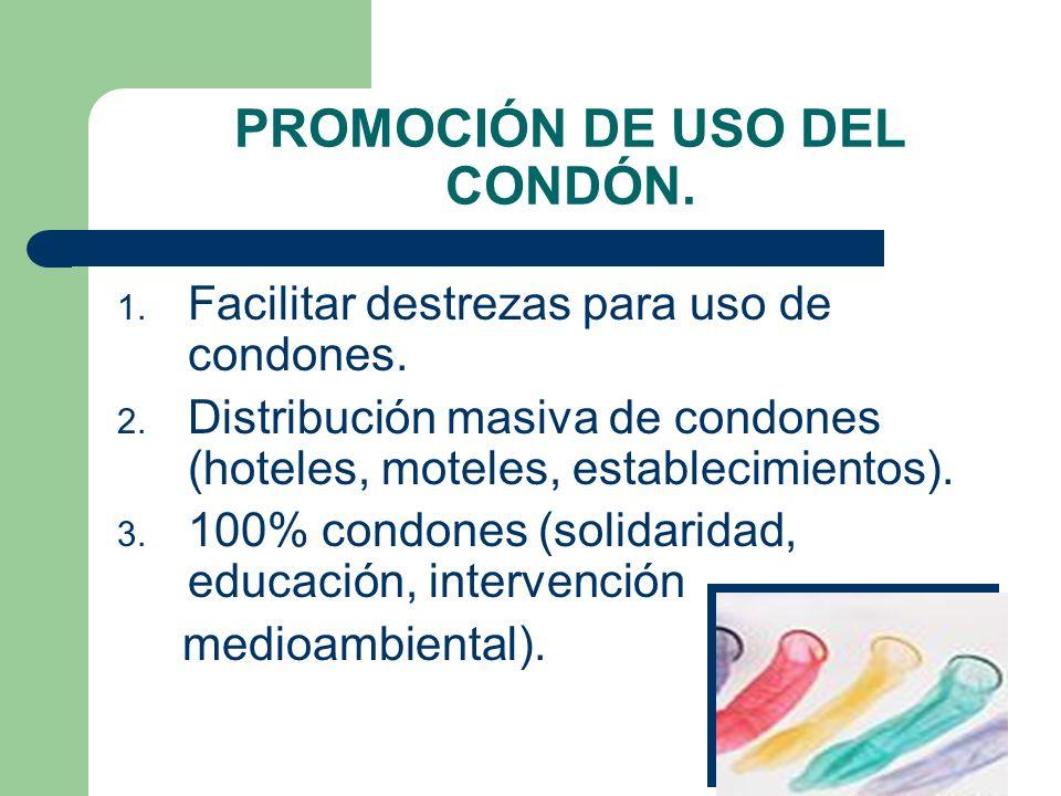 PROMOCIÓN DE USO DEL CONDÓN.