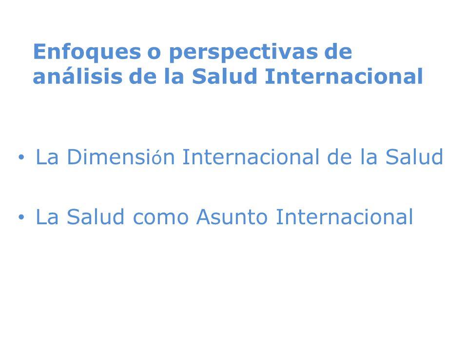 Enfoques o perspectivas de análisis de la Salud Internacional