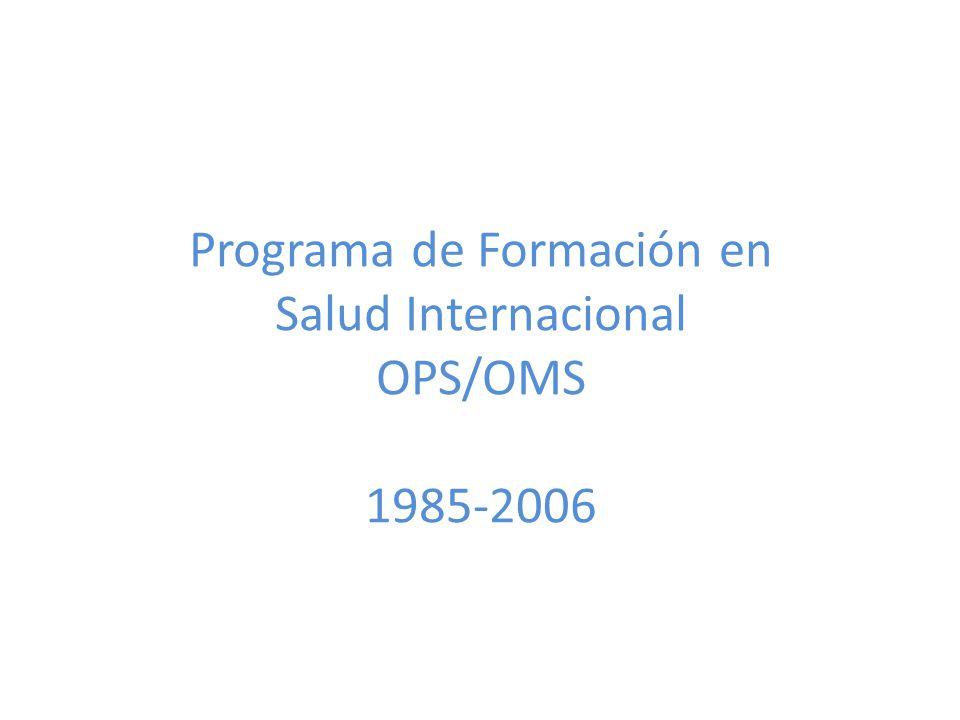 Programa de Formación en Salud Internacional OPS/OMS 1985-2006