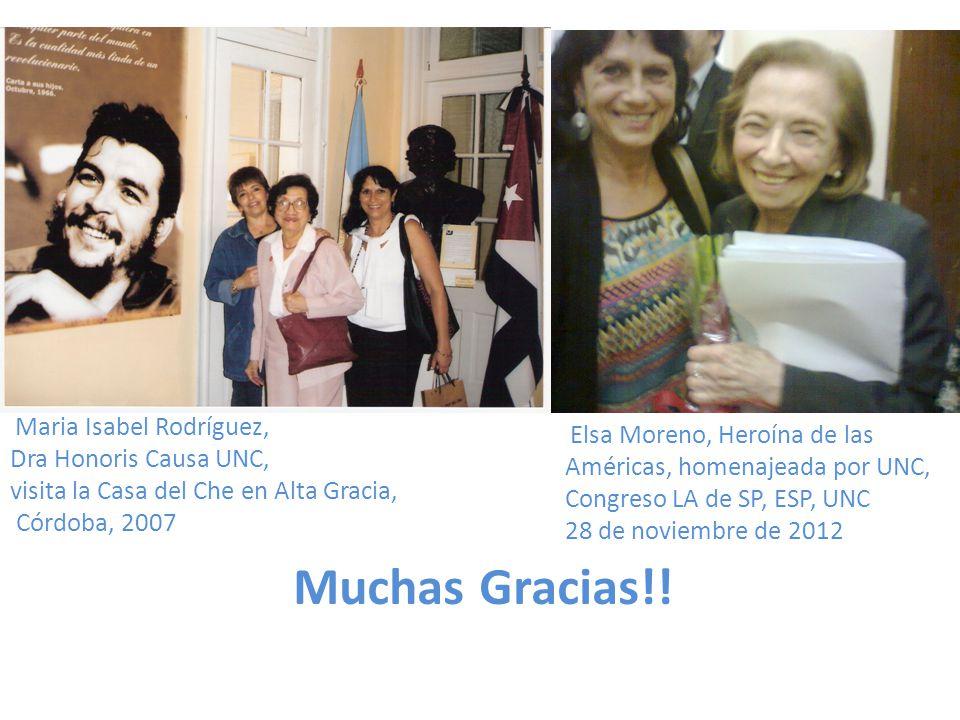 Muchas Gracias!! Dra Honoris Causa UNC, Américas, homenajeada por UNC,
