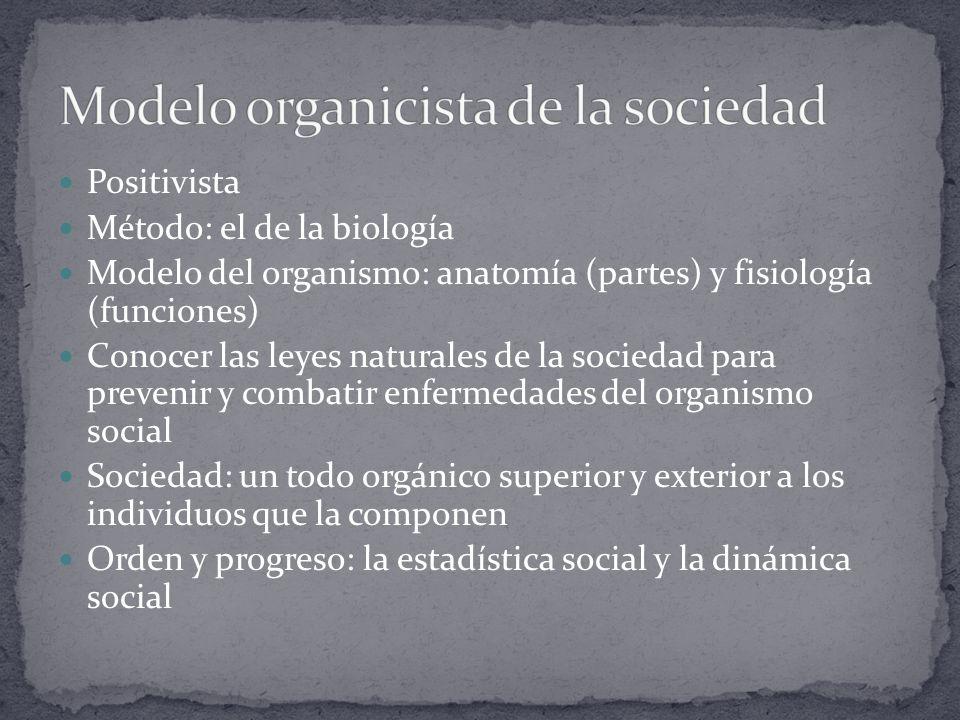 Modelo organicista de la sociedad