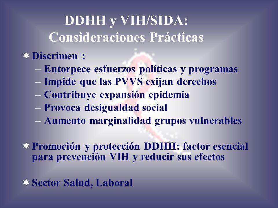 DDHH y VIH/SIDA: Consideraciones Prácticas
