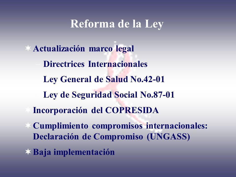 Reforma de la Ley Actualización marco legal