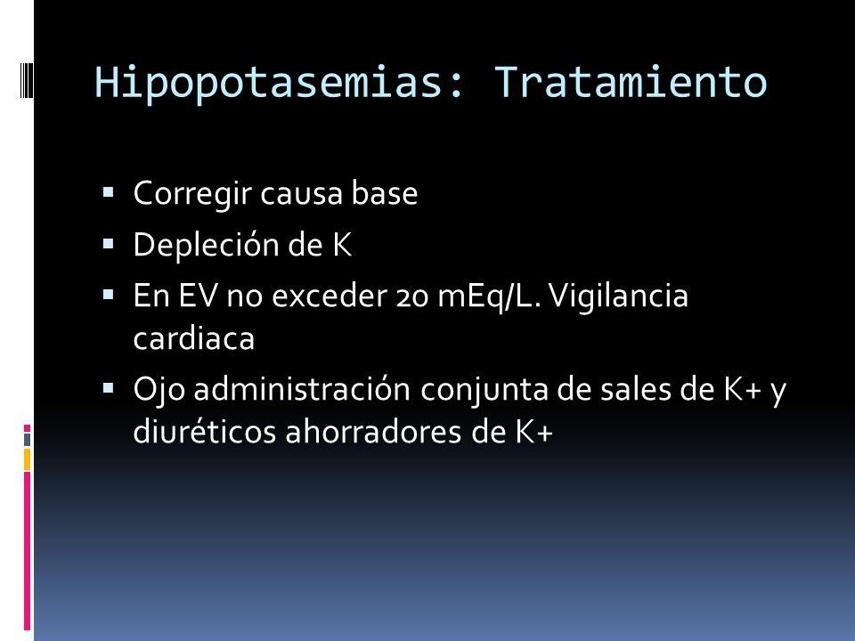 Hipopotasemias: Tratamiento