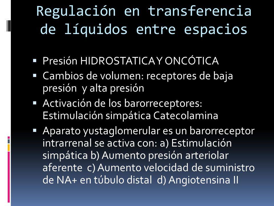 Regulación en transferencia de líquidos entre espacios