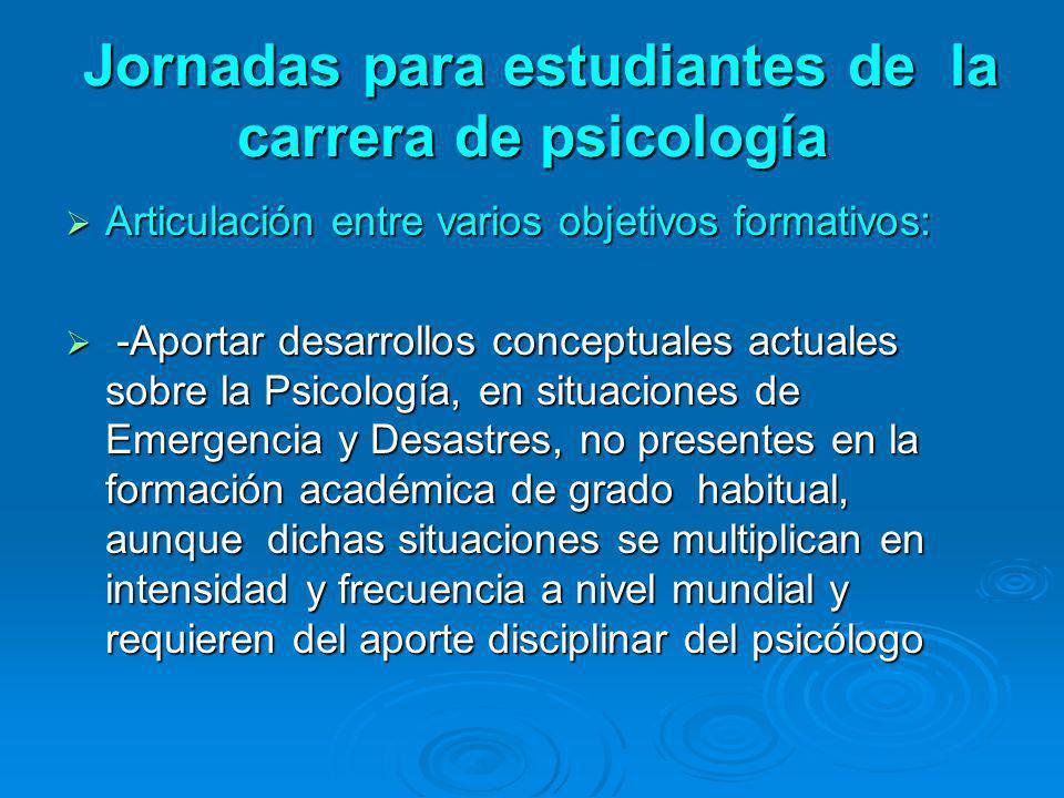 Jornadas para estudiantes de la carrera de psicología