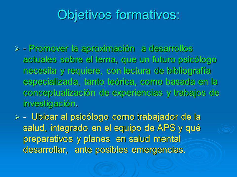 Objetivos formativos: