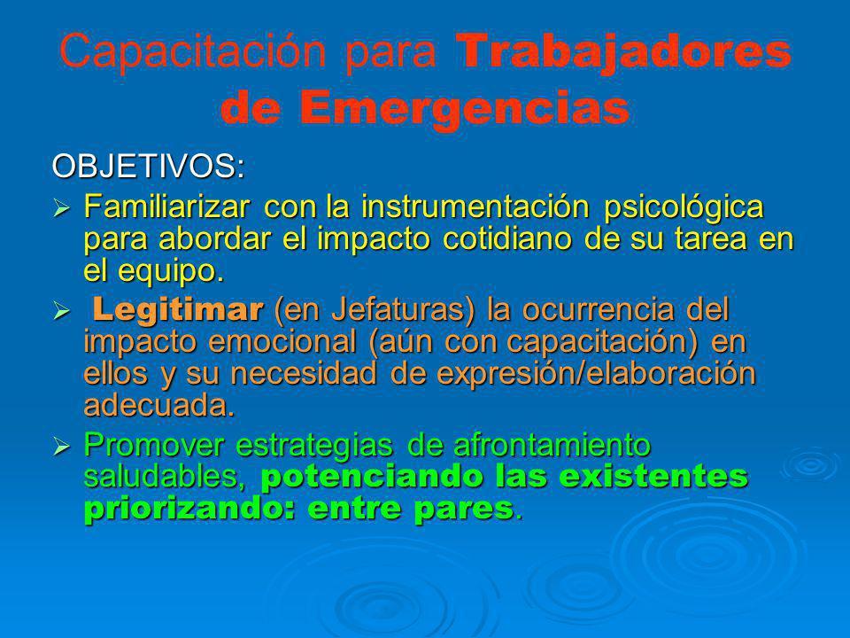 Capacitación para Trabajadores de Emergencias