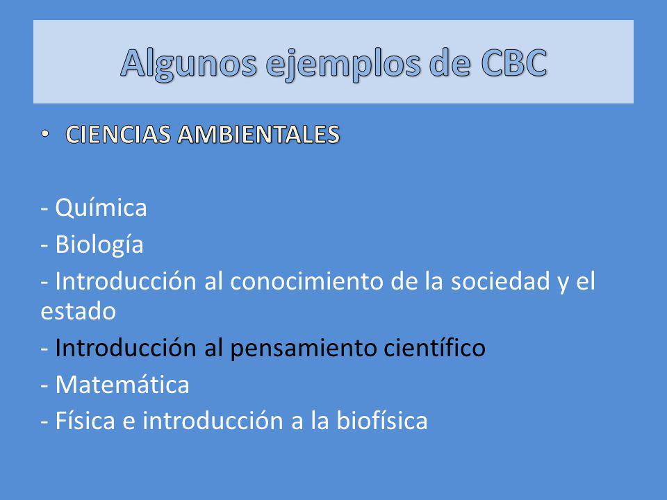 Algunos ejemplos de CBC