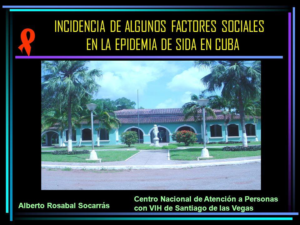 INCIDENCIA DE ALGUNOS FACTORES SOCIALES EN LA EPIDEMIA DE SIDA EN CUBA