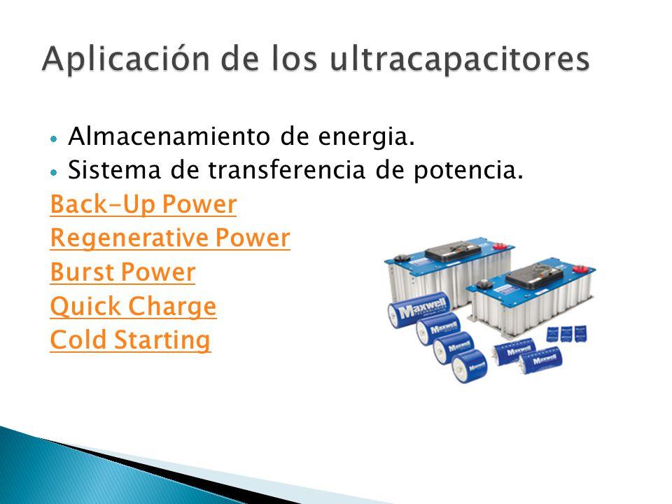 Aplicación de los ultracapacitores