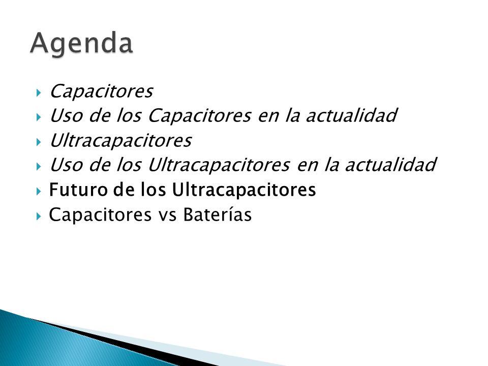 Agenda Capacitores Uso de los Capacitores en la actualidad
