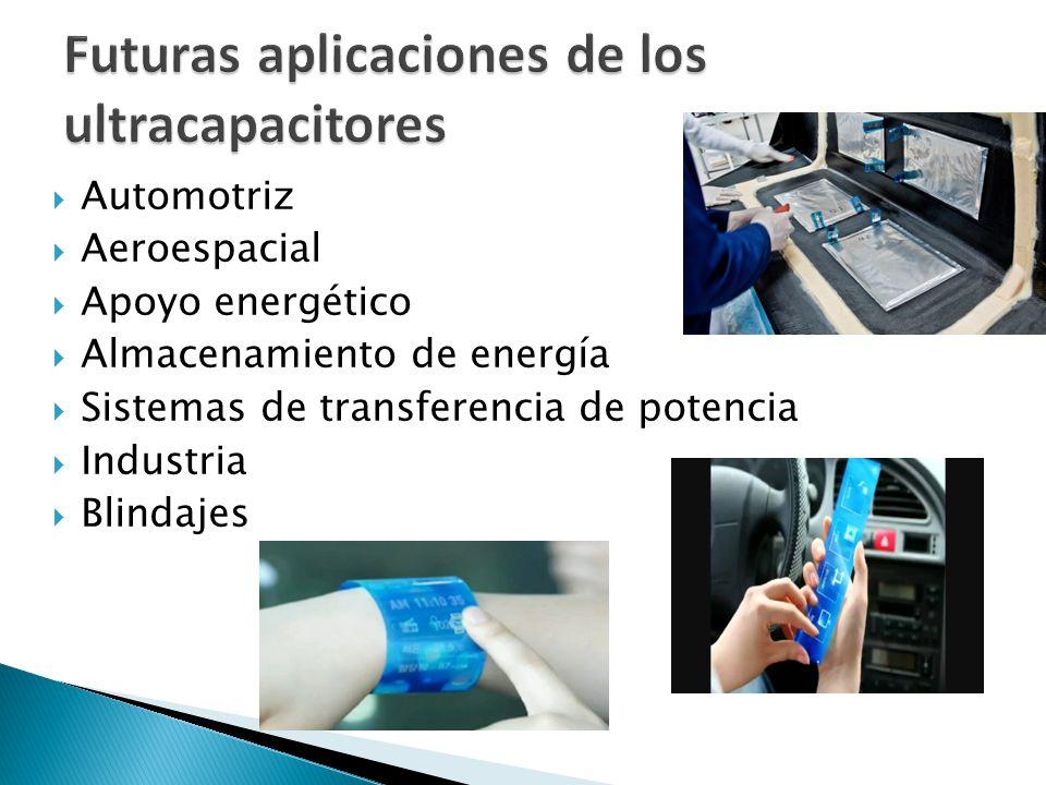 Futuras aplicaciones de los ultracapacitores