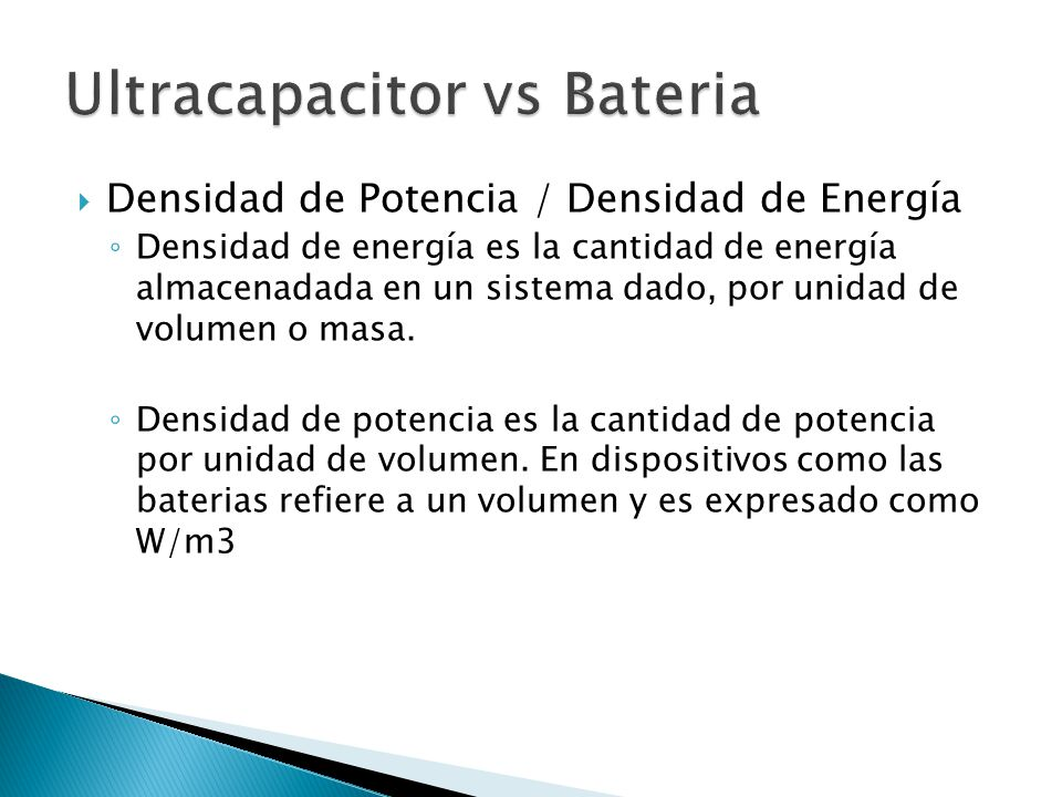 Ultracapacitor vs Bateria