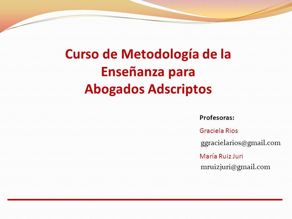 Curso de Metodología de la Enseñanza para