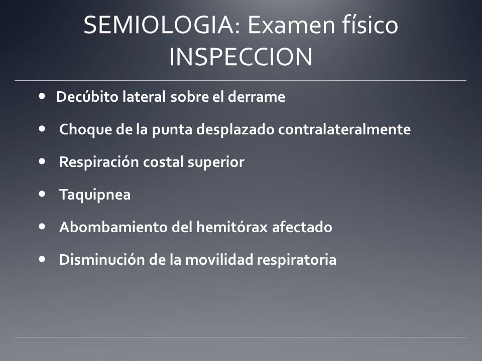 SEMIOLOGIA: Examen físico INSPECCION