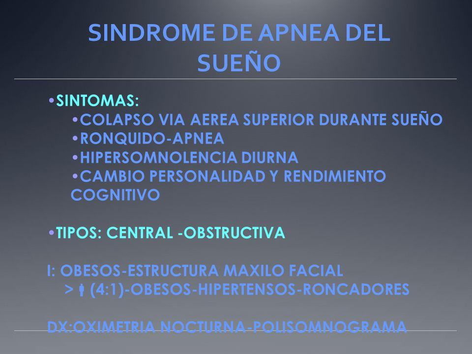 SINDROME DE APNEA DEL SUEÑO