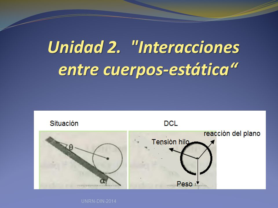 Unidad 2. Interacciones entre cuerpos-estática