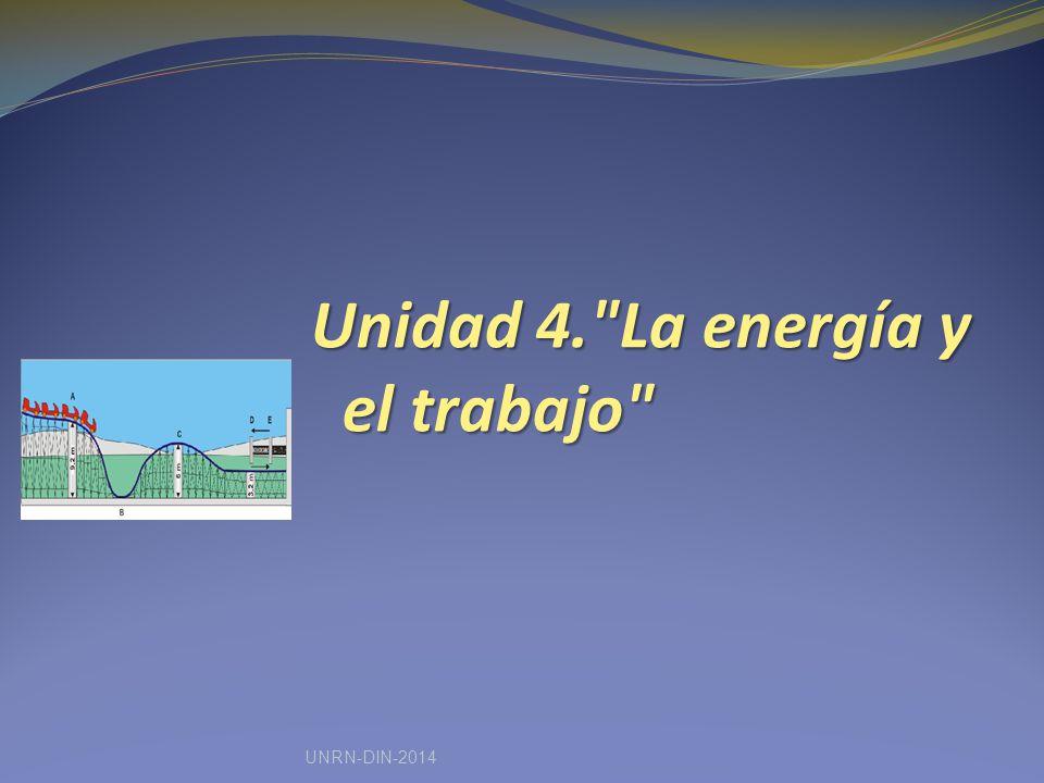 Unidad 4. La energía y el trabajo