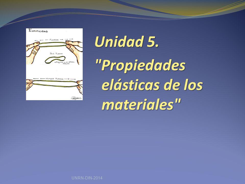 Unidad 5. Propiedades elásticas de los materiales