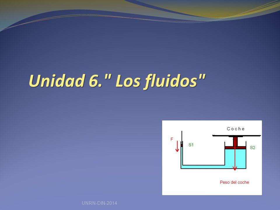 Unidad 6. Los fluidos UNRN-DIN-2014