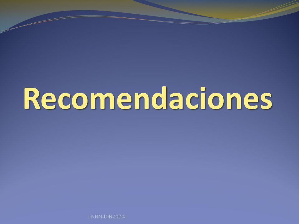 Recomendaciones UNRN-DIN-2014