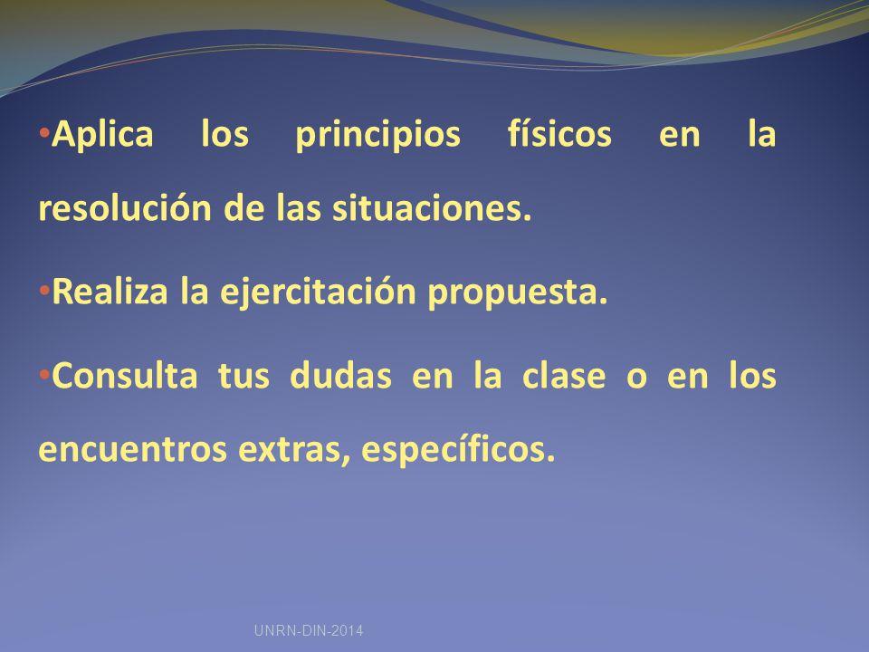 Aplica los principios físicos en la resolución de las situaciones.