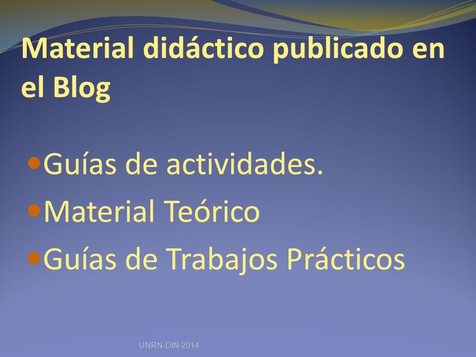 Material didáctico publicado en el Blog