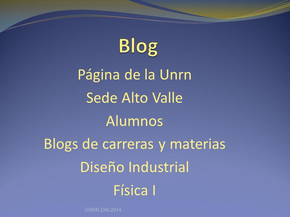 Blogs de carreras y materias