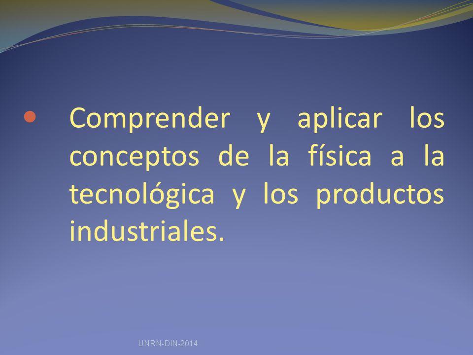 Comprender y aplicar los conceptos de la física a la tecnológica y los productos industriales.