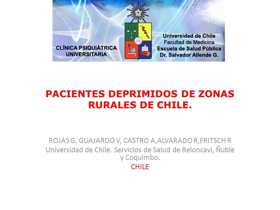 PACIENTES DEPRIMIDOS DE ZONAS RURALES DE CHILE.