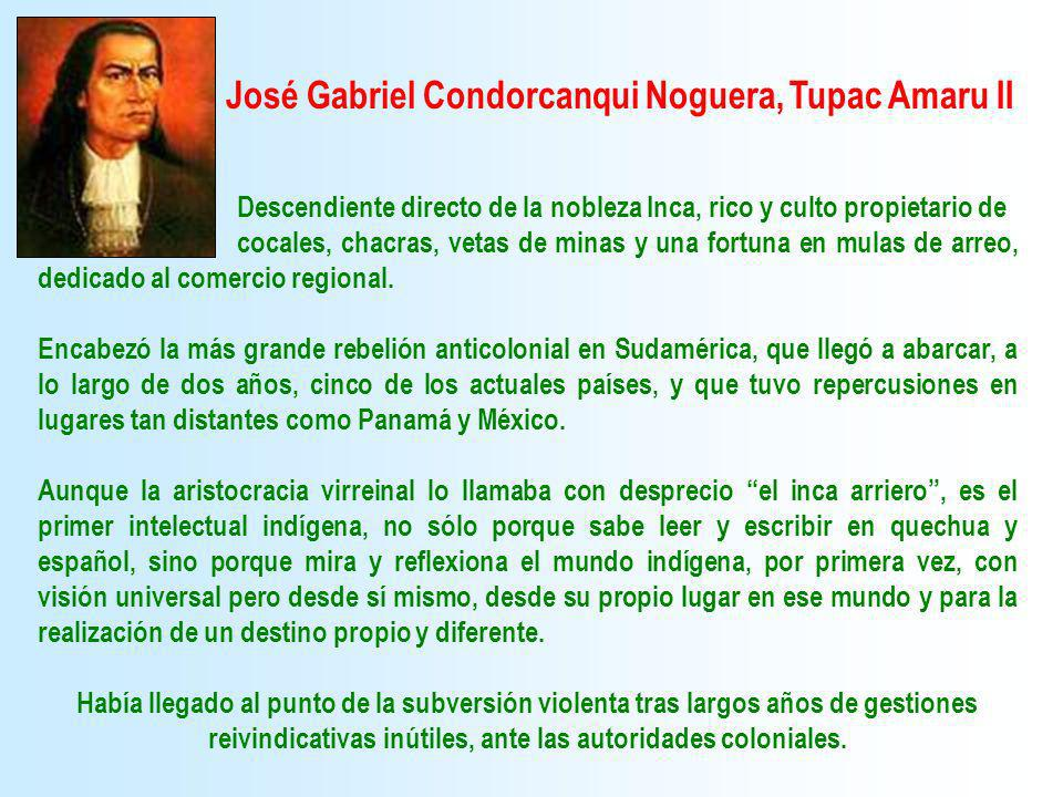 José Gabriel Condorcanqui Noguera, Tupac Amaru II