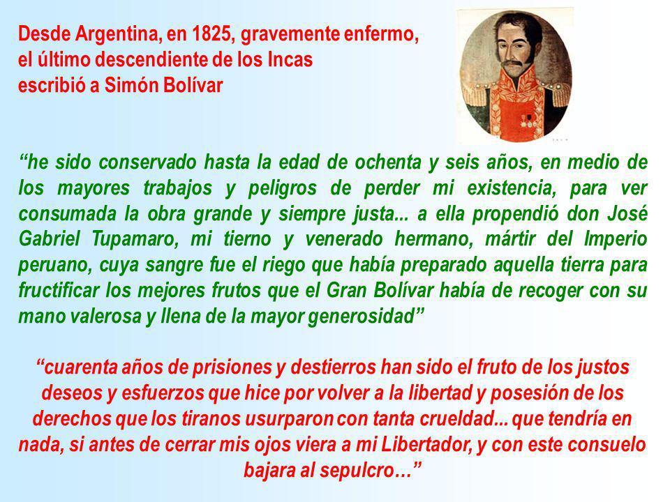 Desde Argentina, en 1825, gravemente enfermo,