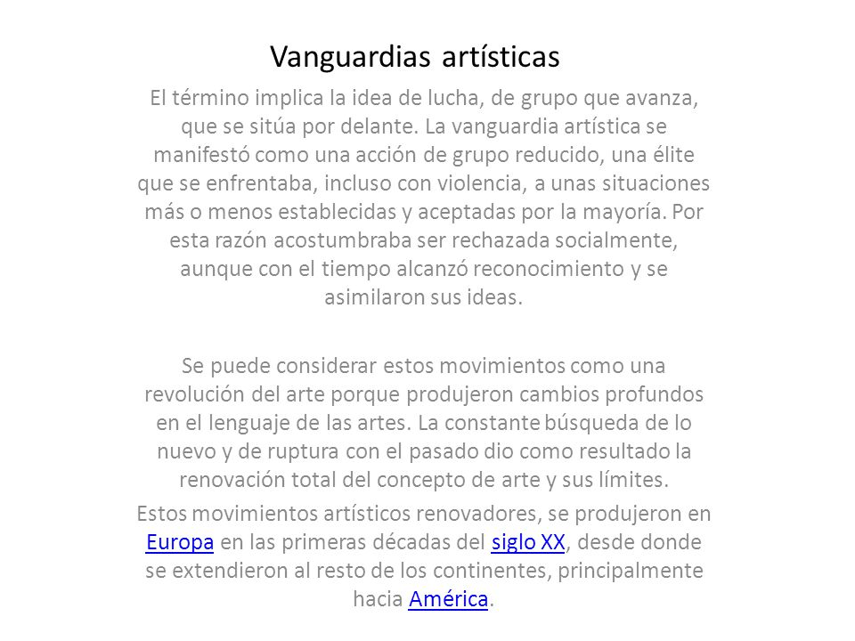 vanguardias art sticas ppt descargar