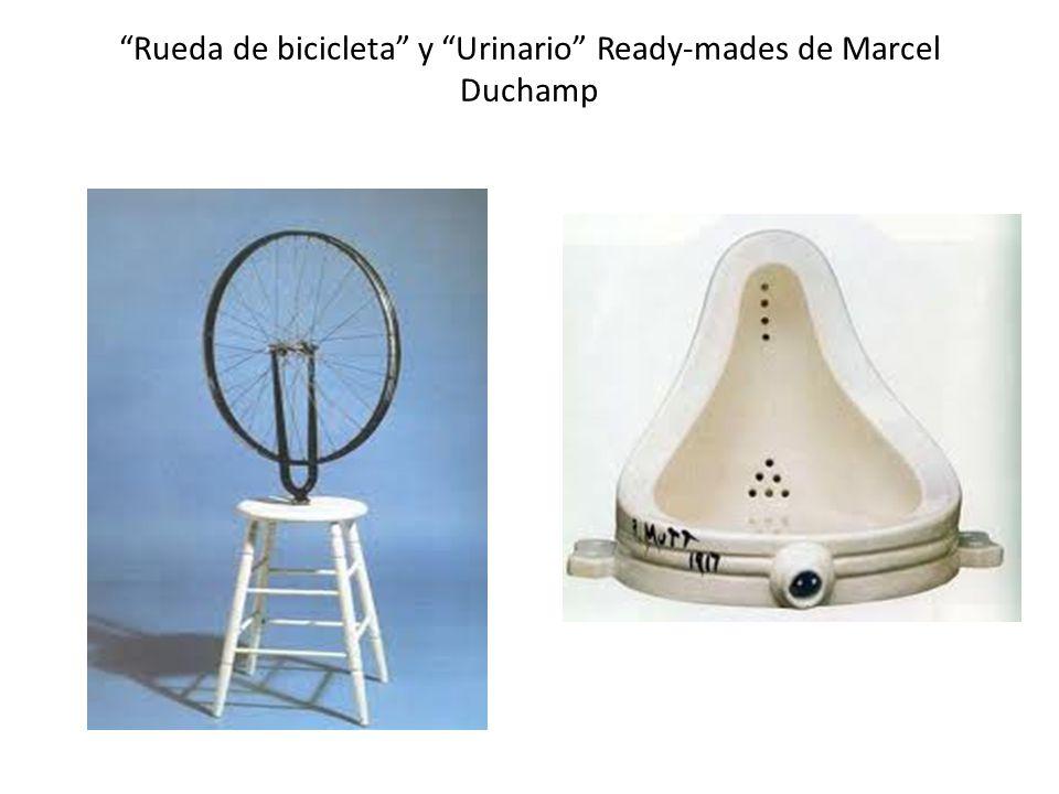 Rueda de bicicleta y Urinario Ready-mades de Marcel Duchamp