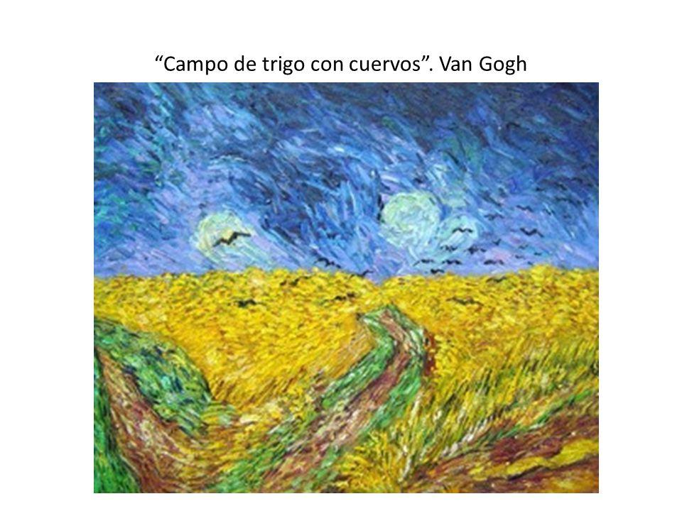 Campo de trigo con cuervos . Van Gogh