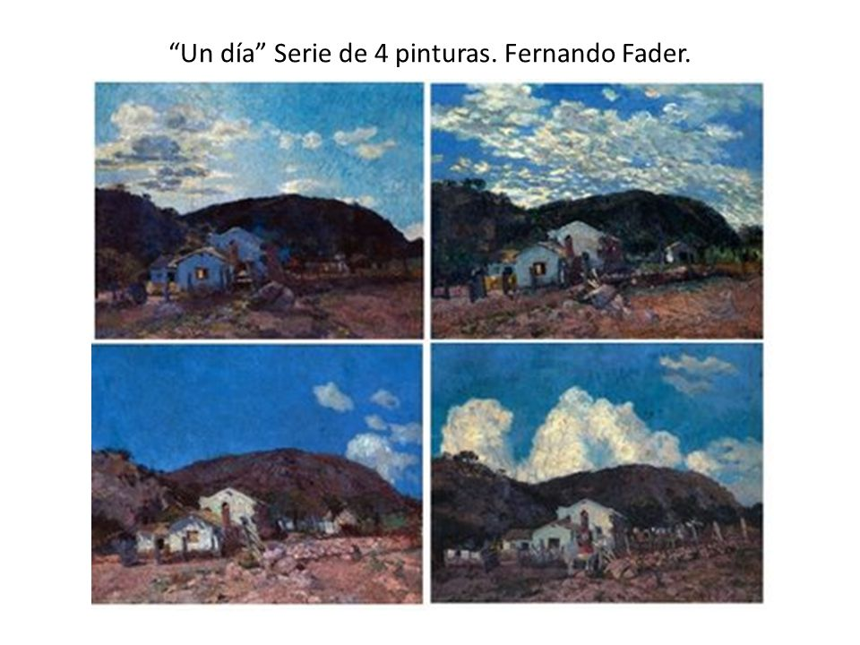Un día Serie de 4 pinturas. Fernando Fader.