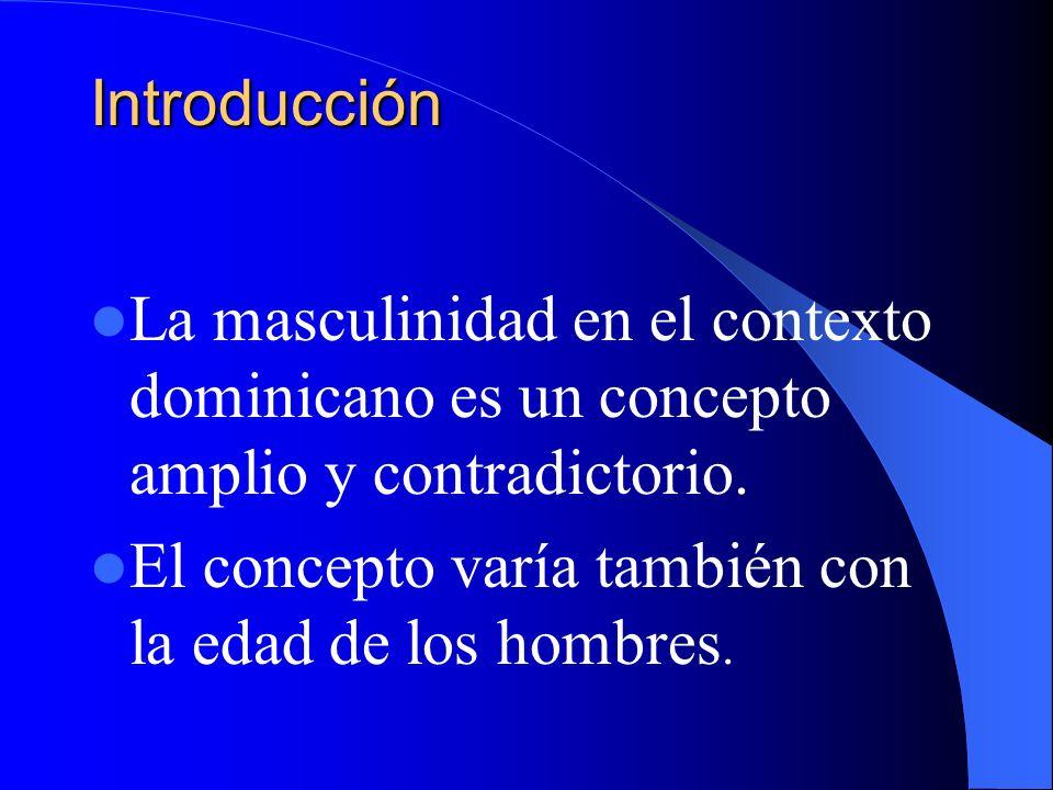 Introducción La masculinidad en el contexto dominicano es un concepto amplio y contradictorio.