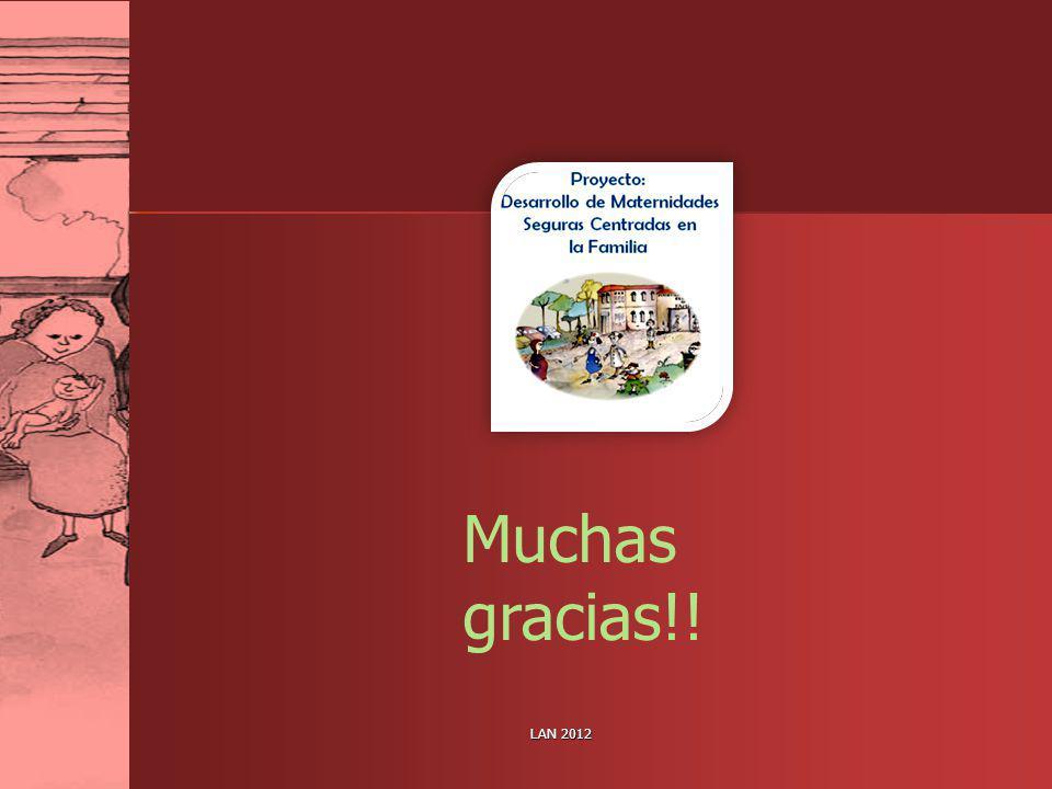 Muchas gracias!! LAN 2012