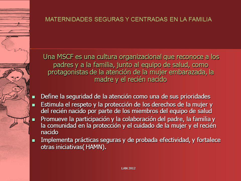 MATERNIDADES SEGURAS Y CENTRADAS EN LA FAMILIA