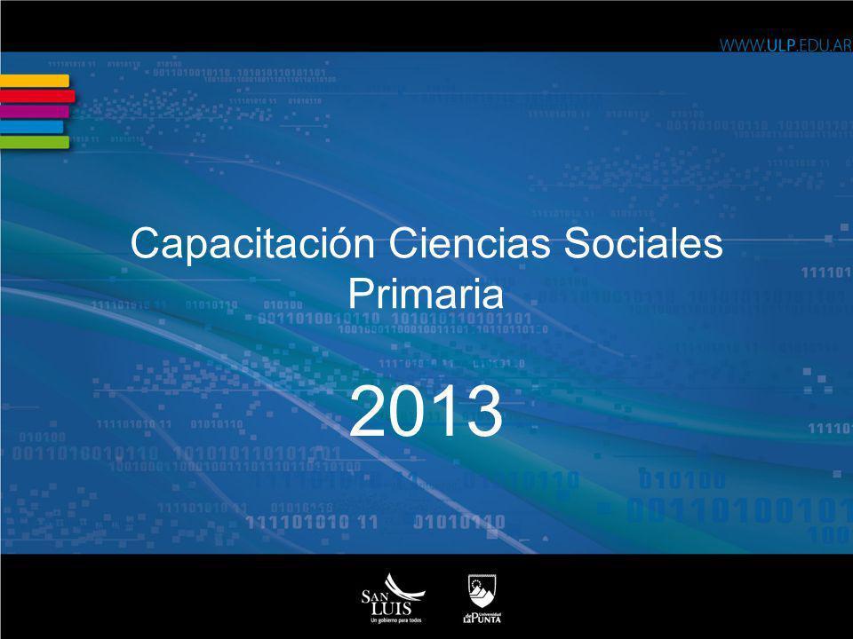 Capacitación Ciencias Sociales Primaria