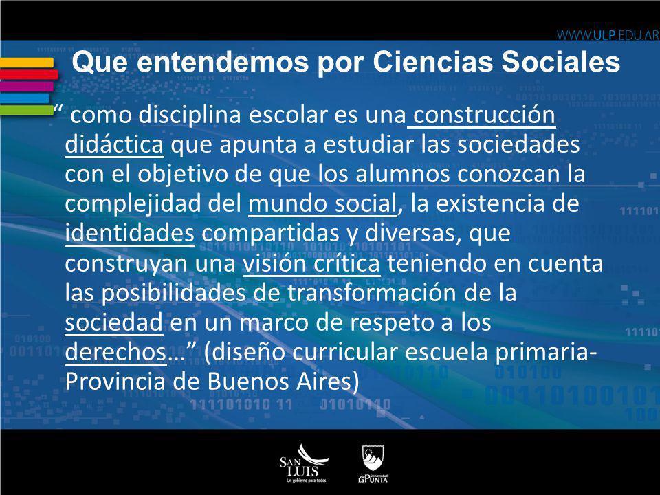 Que entendemos por Ciencias Sociales